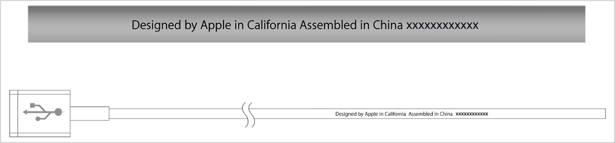 Designed by Apple in California Assembled in China