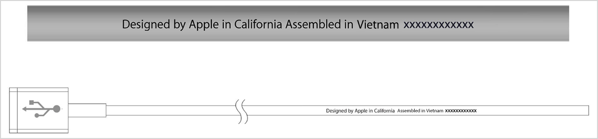 Designed by Apple in California Assembled in Vietnam
