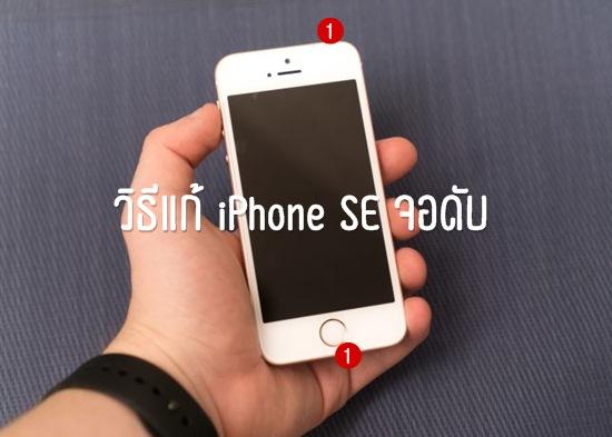 วิธีแก้ iPhone SE จอดับ