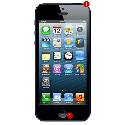 iPhone 5 จอมืด