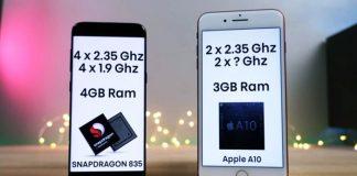 Samsung S8 Plus vs iPhone 7 Plus